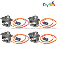 4PCS MG90S Micro Metal Gear 9g Servo for RC Plane Helicopter Boat Car