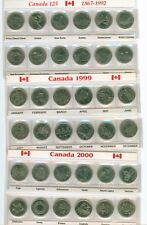 1992, 1999, 2000  Canada  Quarter 25 Cent Sets 12 Coins in Holder ALL 3 SETS