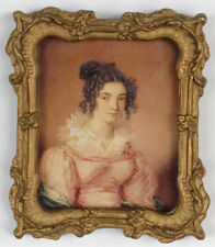 """""""Young lady"""", English portrait miniature, ca.1820"""