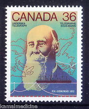 Canada MNH, Frederick Gisborne, invented anti-induction ocean cable, Ele  - In07