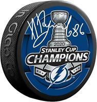 Nikita Kucherov Tampa Bay Lightning 2020 Stanley Cup Champs Signed Champs Puck