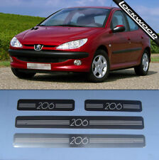 Peugeot 206 4 Door Stainless Steel Sill Protectors / Kick Plates (ALL MODELS)
