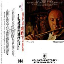 "JEAN-PIERRE RAMPAL ""HANDEL: THE COMPLETE FLUTE SONATAS/ VOL. II"" CASSETTE 1973 c"