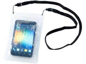 Somikon Wasserdichte Universal-Tasche für Smartphone bis 5,3 Zoll
