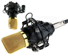 Microphone Sound Condenser with Mount Cardioid Music Singing Instrument Record