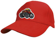(69127 rouge) Enfants Coton Casquette De Base-ball Bonnet Stick CAMION MONSTRE