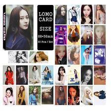 30pcs /set Cute Kpop Fx Krystal Photo Picture Poster Lomo Cards