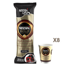 40 NESTLE NESCAFE & AND2 GO GOLD BLEND BLACK COFFEE FOIL SEALED  IN CUP DRINKS