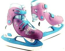 NEW Disney Frozen Anna Elsa Adjustable Ice Skates Y8-11 Blue Purple White