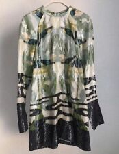 H&M HM Conscious Exclusive Green Lyocell Silk Dress UK8 Eu34 US4 SENT SAME DAY