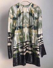 H&M Consciente Exclusivo Verde Vestido De Seda Lyocell SS18 UK8 Eu34 US4 enviado el mismo día