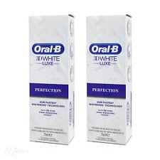 Oral B 3d White Luxe perfección Pasta De Dientes 75ml X2