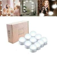Set of 10 Hollywood Style Dimmable LED Light Bulbs Lamp for Vanity Makeup M F9R5