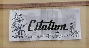 """Citation Vintage 60's Travel Trailer Reproduction Decal Bendix Corp. 18"""" Blk Wht"""