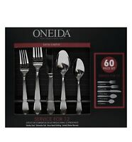 SALE! Oneida Satin Carter 60 Pcs Set Silverware - Slight Damage Box