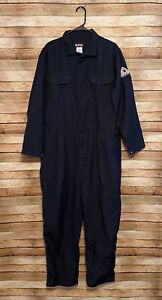 Bulwark Mens Flame Resistant Dupont Nomex FR Classic Coveralls Navy Large NWOT
