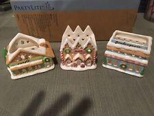 PartyLite Just Desserts Tealight Village Holders P91672