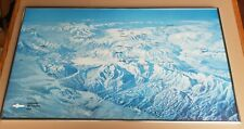 "Vintage Hal Shelton Colorado Ski Country Topical Map 35"" x 19.5"" in Metal Frame"