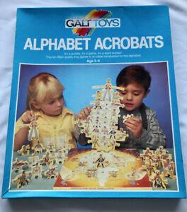 Rare - Vintage Alphabet Acrobats Game / Jigsaw By Galt Toys - Complete