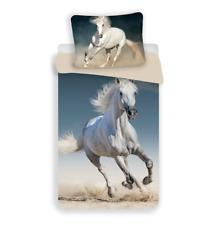Pferde Baumwolle - Kinder Bettwäsche Set 135 140x200 cm Deckenbezug - Bettwaren