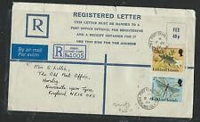FALKLAND ISLANDS  (P2706B) QEII RLE 40 P UPRATED INSECT 2P+20P TO ENGLAND
