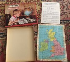 VINTAGE Victory Plywood Jig Saw Map Puzzle - British Isles Hayter & Co. 1969