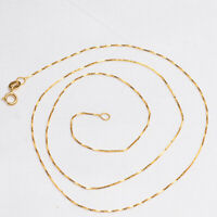 Real 18k gold female model chain necklace  clavicle chain AU570 DIY necklace 18""