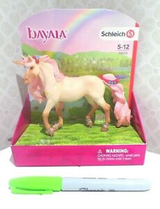 BNIB pink SCHLEICH Bayala decorated UNICORN MARE with sparkle 70573 NEW