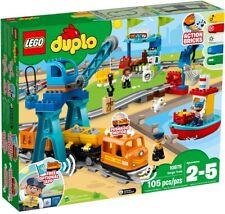 LEGO DUPLO Cargo Train 10875 Battery-Operated Building Blocks Set (105 Pieces)