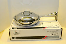 "All Clad Stainless 11"" French Skillet with Domed Lid, 3 Ply - New In Box"