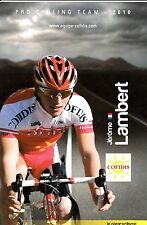 CYCLISME carte cycliste JEROME LAMBERT équipe COFIDIS 2010