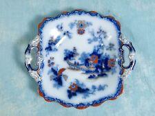 IMARI Ironstone Mulberry Cabinet Plate Handled Platter Cobalt Gold Blue Rust