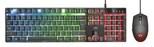 KIT MOUSE E TASTIERA TRUST GXT838 AZOR Gaming Combo Set 3000 DPI RGB LED USB PC