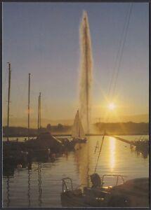 AA8781 Switzerland - Genève - The Jet D'Eau Au Coucher Du Soleil - Card