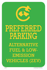 "PREFERRED PARKING 12""x18"" METAL/PVC SIGN"