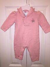 USED RALPH LAUREN 6 MO CREAM PINK ONE PIECE FLEECE LAYETTE POLO SO CUTE!