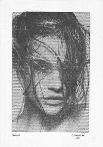hardware technology print A3 93StA samovar Ink female portrait Barbara Palvin
