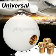 White Universal Car Round Ball Resin Gear Shift Knob Stick Shifter Lever US