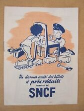 """BROCHURE SNCF BILLET VOYAGE """"TU DONNES AUSSI DES BILLETS A PRIX REDUITS..."""" PUB"""