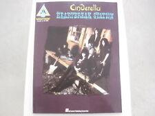 Cinderella Heartbreak Station Sheet Music Song Book Guitar Tab Tablature