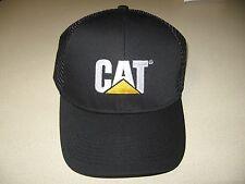 Cat Ball Cap Caterpillar Hat NWT Black Mesh Summer hat air holes ventilated