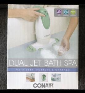 Conair Dual Jet Bath Spa Bubble Machine Jacuzzi