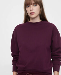 Gap Women's Vintage Soft Crewneck Sweatshirt Size Medium Plum Purple NWT #618426