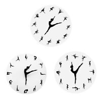 Yoga Dancing Figure Wall Clock Modern Home Decor 3D Wall Clock Decorative