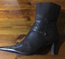 28e5d49aeeb Block Heel Leather Boots Women's Square Toe for sale | eBay