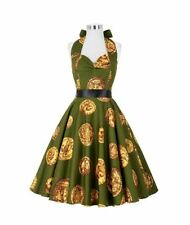 c131f33fa3 NEW Vintage 50 s Rockabilly Housewife Style Circle Halter Dress Size XL 16  - 18