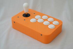 Handmade USB Fightstick - Orange and White