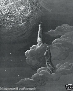 PARADISE, Canto 14 Dante's The Divine Comedy Reproduction CANVAS PRINT 24x29 in.