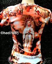 AVE MARIA MADONNA Pope Love Rock Star Tattoo T-Shirt S