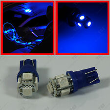 2pcs Interior Dome Map Reading 5-SMD Blue LED T10 Wedge Light Bulbs 194 W5W 2825
